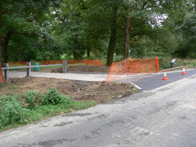 New road entrance at Alvecote Wood