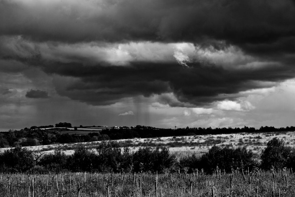 Thunderstorm over Polesworth from Betty's Wood