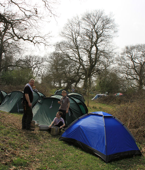 Polesworth Scouts camping at Alvecote Wood